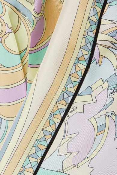 Emilio Pucci Karottenhose aus bedrucktem Seiden-Twill