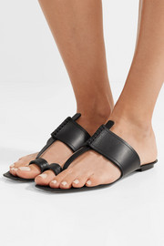 Saint Laurent Saba leather sandals