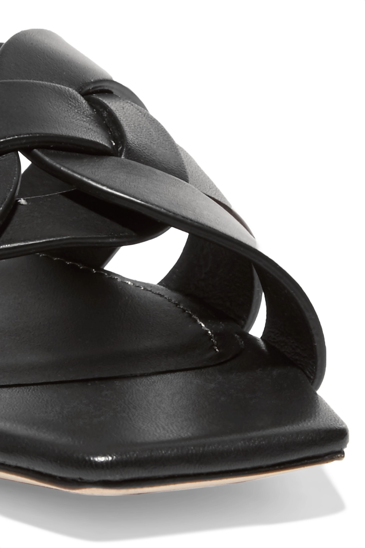 SAINT LAURENT Woven leather slides