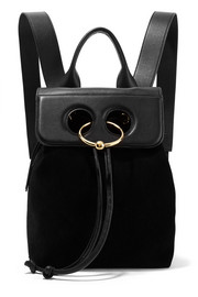 JW Anderson Pierce mini suede and textured-leather backpack