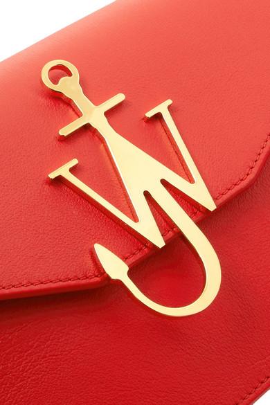 JW Anderson Logo Schultertasche aus Leder