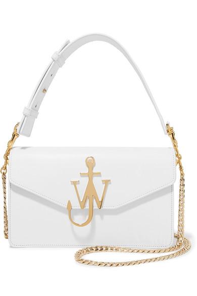 JW Anderson - Logo Leather Shoulder Bag - White