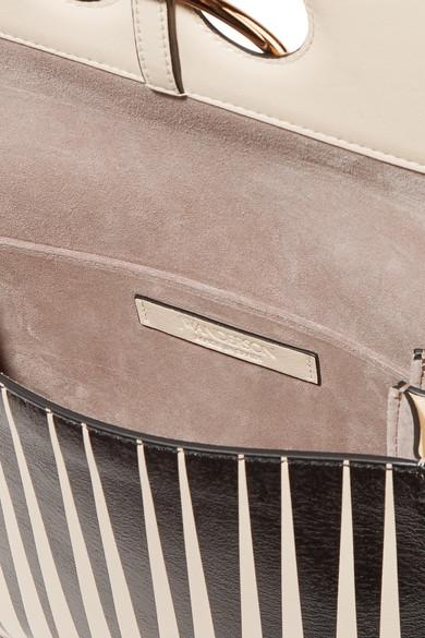 JW Anderson Pierce mittelgroße Schultertasche aus bedrucktem Leder