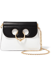 Pierce mini two-tone leather shoulder bag
