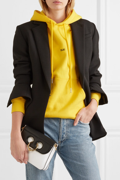 JW Anderson Pierce mini Schultertasche aus zweifarbigem Leder