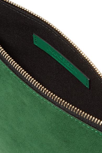 JW Anderson Schultertasche aus Veloursleder mit Besatz aus Glattleder Neue Angebote Kaufen Billige Angebote Auslass 100% Authentisch Hd7Rx