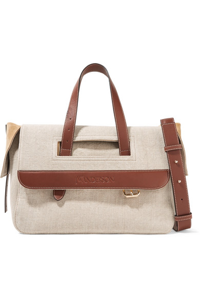 Tool leather-trimmed suede tote J.W.Anderson 2A8FO2RQ