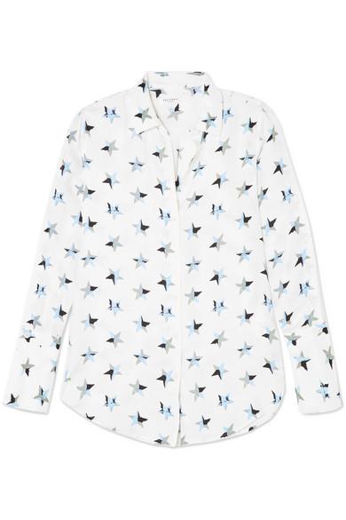 Equipment Rossi bedrucktes Hemd aus vorgewaschener Seide