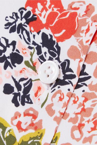 Equipment Essential Hemd aus vorgewaschener Seide mit floralem Print