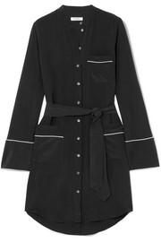 Equipment Britten washed-silk mini shirt dress