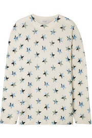 Equipment Bryce oversized printed cashmere sweater