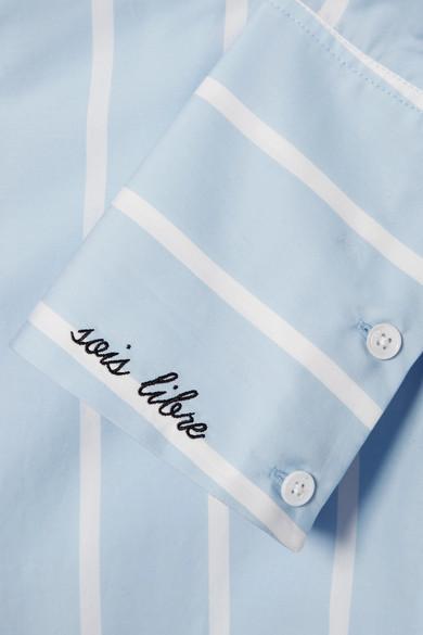 Equipment Arlette gestreiftes Hemd aus Baumwollpopeline