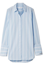 Equipment Arlette striped cotton-poplin shirt