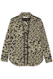 Equipment Leema floral-print silk-georgette shirt
