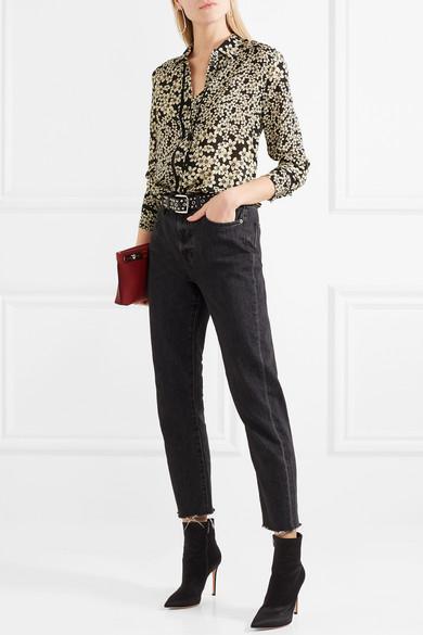 Equipment Leema Hemd aus Seiden-Georgette mit floralem Print