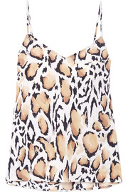 Equipment Layla leopard-print silk crepe de chine camisole