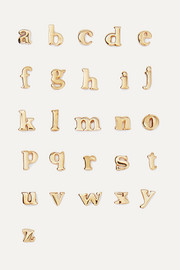 Alphabet 14-karat gold earring