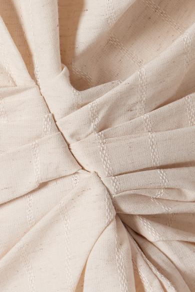 Jacquemus La Chemise Belem gerafftes Hemd aus einer Baumwoll-Leinenmischung