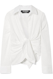 Jacquemus Bahia knotted cotton shirt