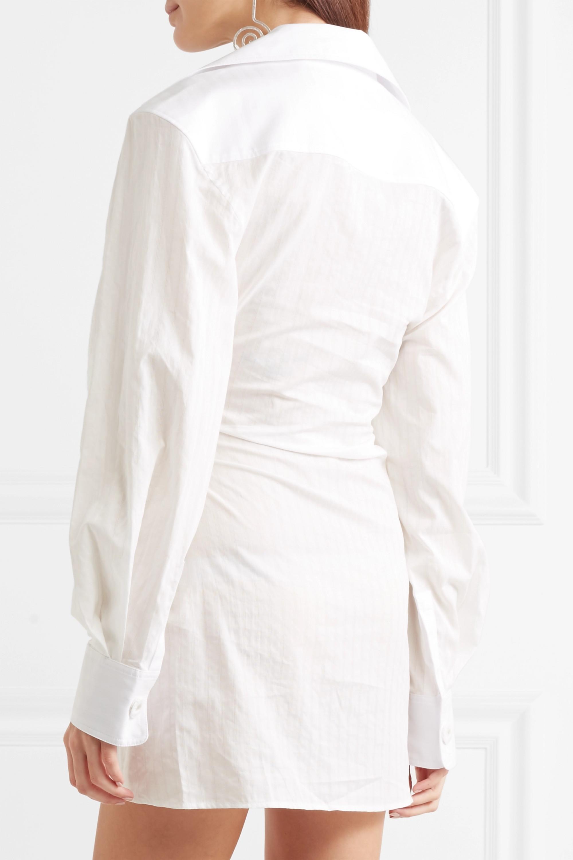 Jacquemus Mini-robe en coton à fronces Maceio