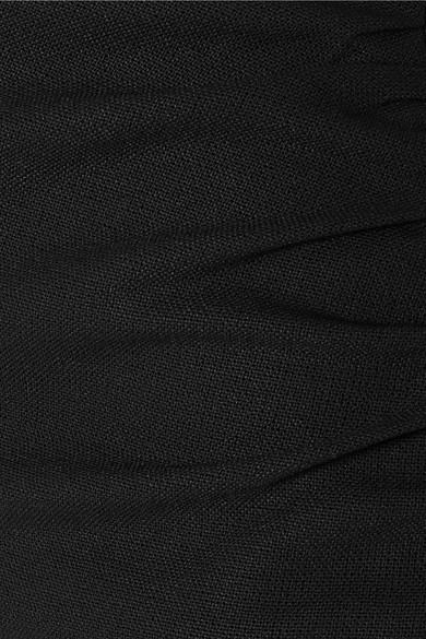 Jacquemus Le Corsaire gewebte, eng geschnittene Hose in verkürzter Länge mit Raffungen