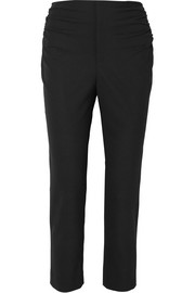 Jacquemus Le Corsaire cropped ruched woven skinny pants