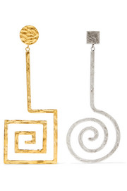 La Spirale gold and silver-tone earrings