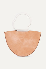 Lilou calf hair and textured-leather tote