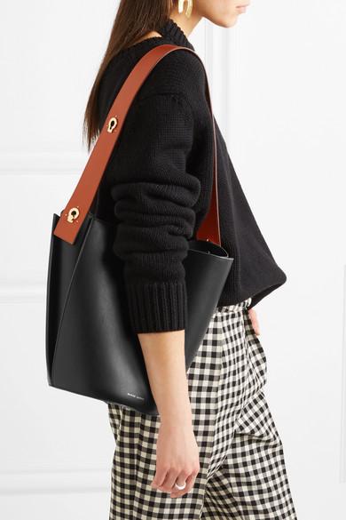 Danse Lente. Lorna mini two-tone leather bucket bag.  495. Zoom In 6368d7f37da26