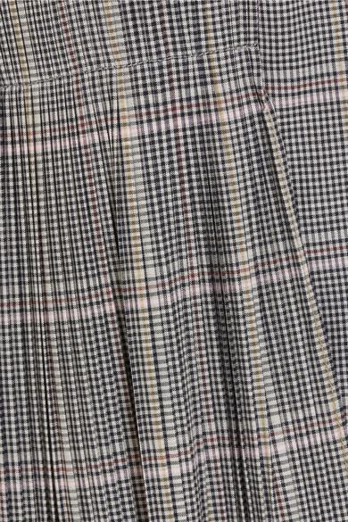 Cédric Charlier Karierter Blazer aus einer Wollmischung mit Falten