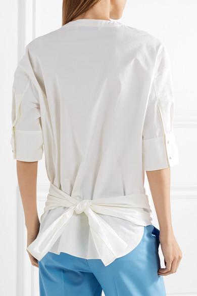 Cédric Charlier Oberteil aus Baumwollpopeline mit Knotendetail