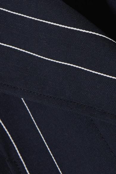 Cédric Charlier Gestreifter Blazer aus einer Leinen-Baumwollmischung Rabatt Verkauf Online sJzfy