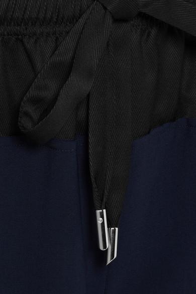 Cédric Charlier Hose mit weitem Bein aus einer Wollmischung mit Shell-Besatz