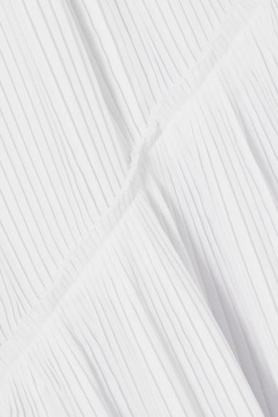 Cédric Charlier Asymmetrisches Midikleid aus Baumwollpopeline mit Plissee Günstig Kaufen Niedrigsten Preis Kauf Billig Footlocker Finish Schnell Express Wählen Sie Eine Beste tjPGdqo