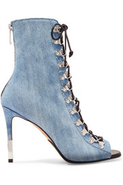 Balmain Bottines à lacer en jean Club