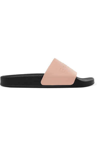 Balmain Calypso Logo-embossed Leather Slides Outlet Store Locations Cheap Clearance Store Fast Delivery Buy Cheap Best Store To Get New pqrv7gu
