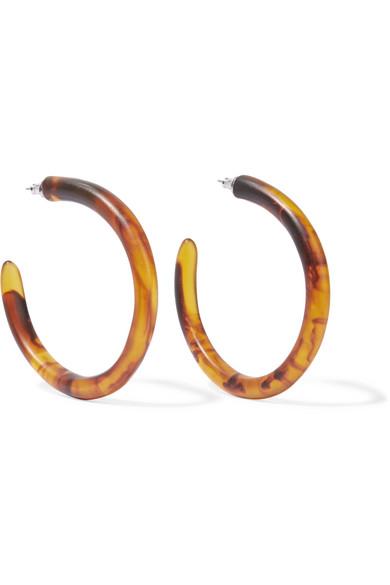 Dinosaur Designs - Resin Hoop Earrings - Tortoiseshell