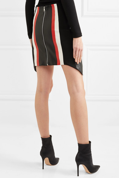 Striped Leather Mini Skirt - Black MUGLER Outlet Locations Sale Online sCNGtH