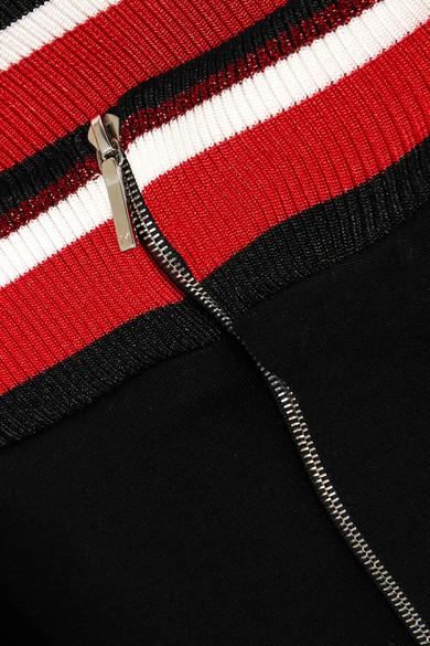 Mugler Schulterfreies Minikleid aus Stretch-Jersey mit Streifen