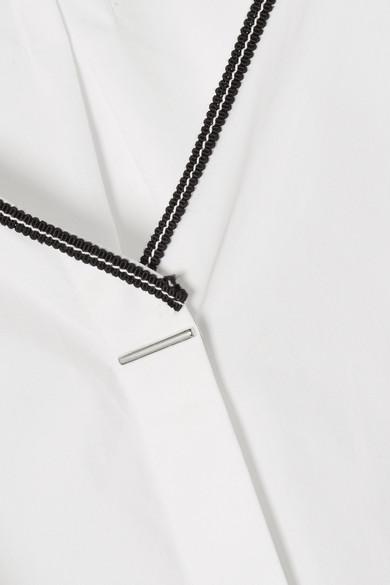 Mugler Schulterfreies Oberteil aus Baumwollpopeline mit Ripsband