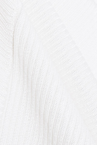 Mugler Asymmetrische Tunika aus Rippstrick