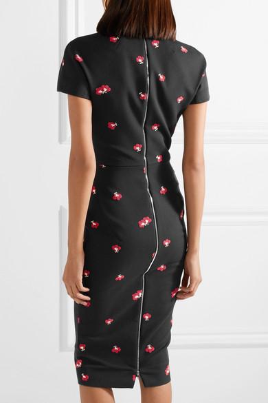 Victoria Beckham Kleid aus floralem Jacquard