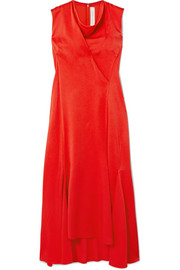 Victoria Beckham Draped crepe midi dress