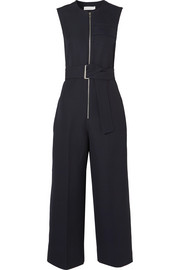Cropped woven jumpsuit