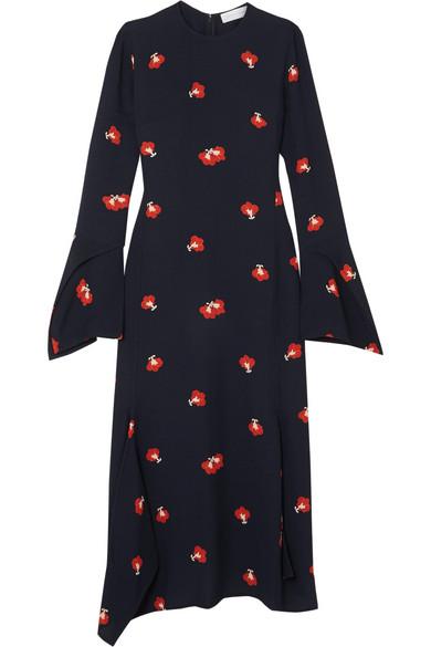 Victoria Beckham Midikleid aus floralem Jacquard