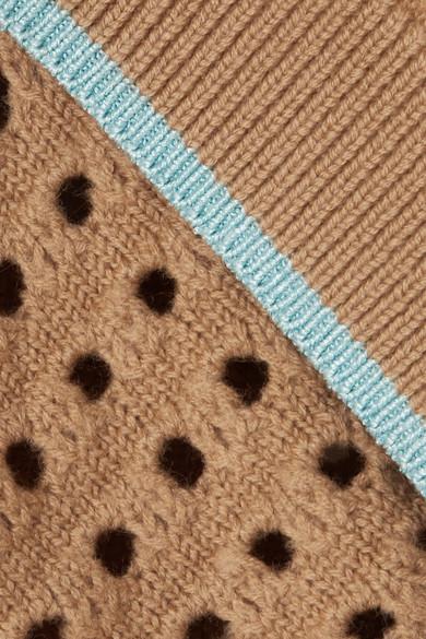 Victoria Beckham Lochstrickpullover aus einer Wollmischung