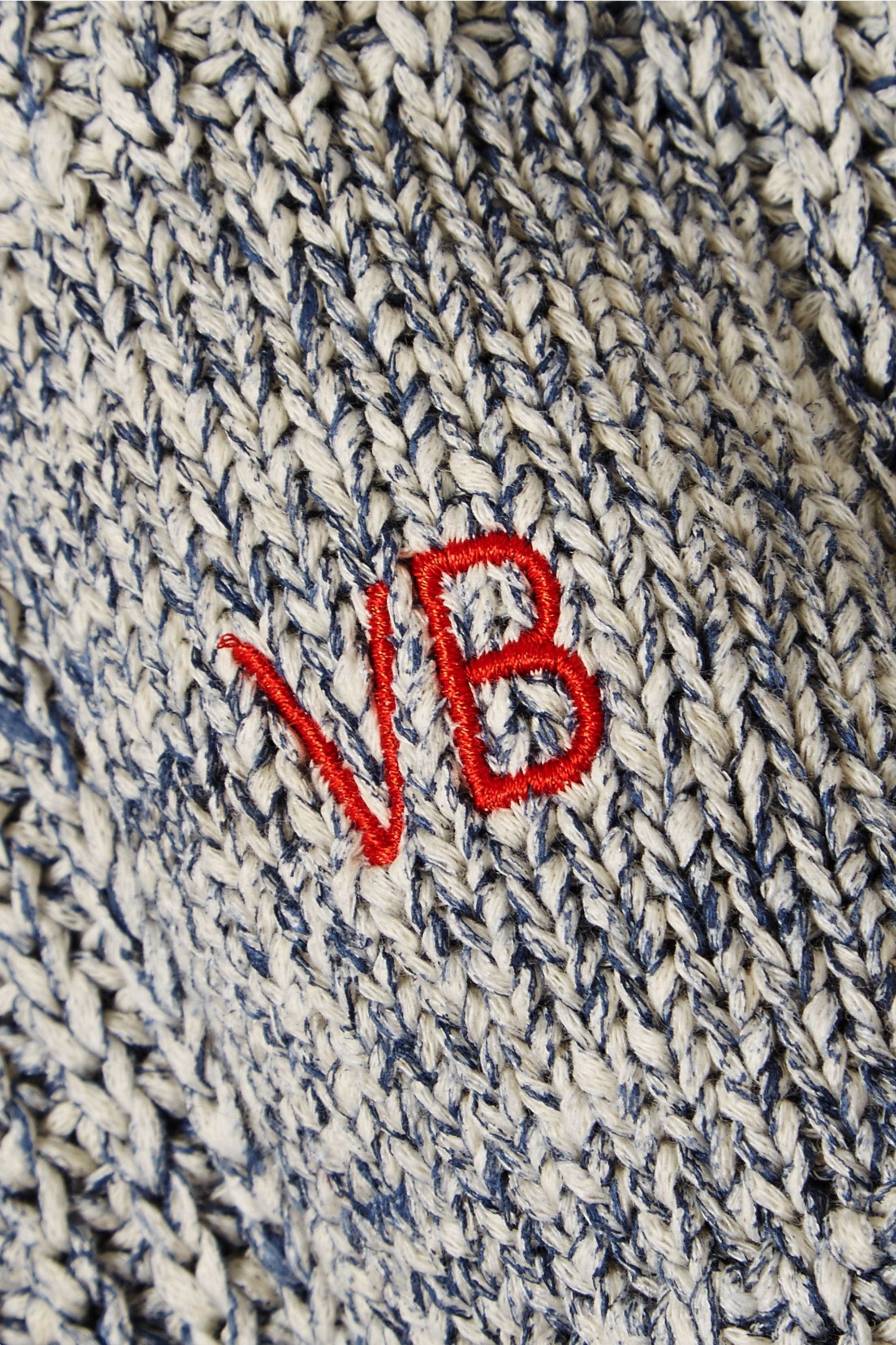 Victoria Beckham Embroidered cotton and wool-blend sweater