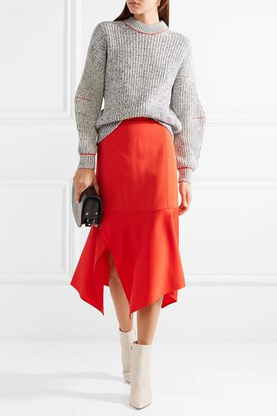 Victoria Beckham Bestickter Pullover aus einer Baumwoll-Wollmischung