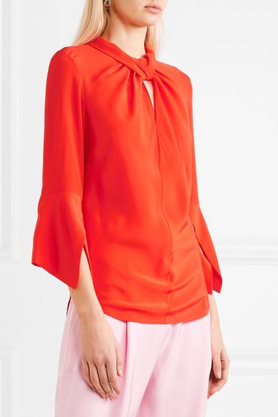 Victoria Beckham Bluse aus Crêpe de Chine aus Seide mit Twist-Detail