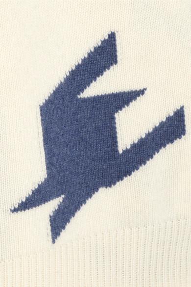 Victoria Beckham Kaschmirpullover mit Intarsienmuster in Hahentrittoptik